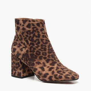 dames luipaard enkellaarsjes