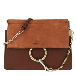 Crossbody bags - Faye Mini Flap Shoulder Bag in bruin voor dames