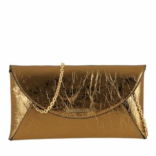 Clutches - Mini Bag Laminated Leather in gold voor dames