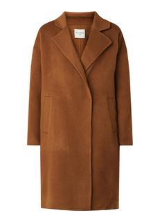 Lucie mantel van wol met steekzakken