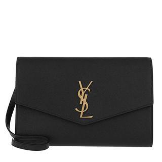 Cross Body Bags - Clutch Leather Black in zwart voor dames