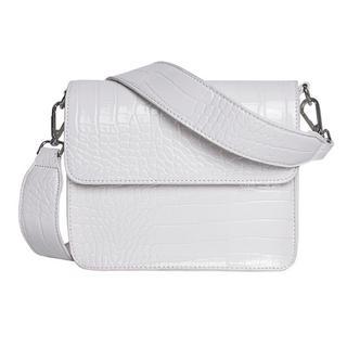 Cayman Shiny Strap Bag white