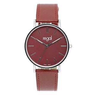 horloge met een rode pu leren band