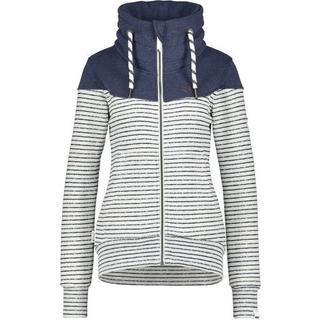 Sweatvest sportief jasje met hoge extra dikke opstaande kraag & dikke koordjes