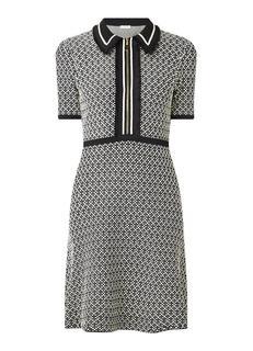 Mini jurk van tweed met halve rits