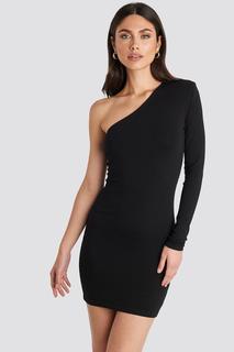 Padded One Shoulder Dress