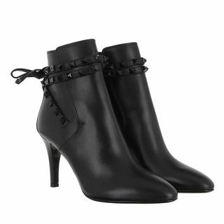 - Rockstud Ankle Boots Leather in zwart voor dames
