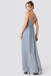 V-Neck Cross Back Maxi Dress
