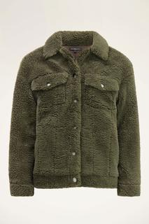 Groene teddy jas