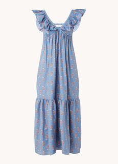 Sunny maxi jurk met volant en bloemenprint