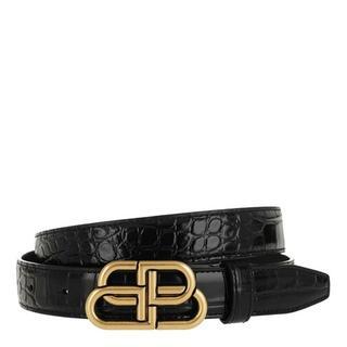 Riemen - BB Thin Belt Leather in black voor dames