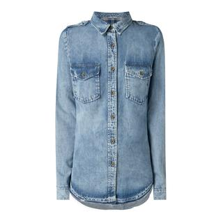 Regular fit blouse in denimlook