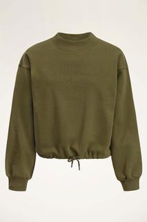 Groene sweater bisous