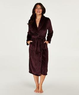 Lange badjas Fleece Rood