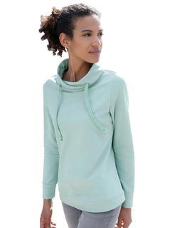 sweatshirt met asymmetrische kraag