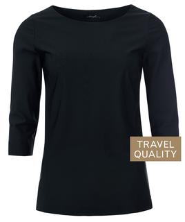Bianca boothals top in travel stof