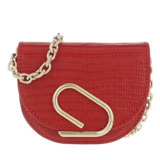 Portemonnees - Alix Mini Cardcase On Chain in red voor dames