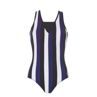 badpak v-neck Vertical lines navy