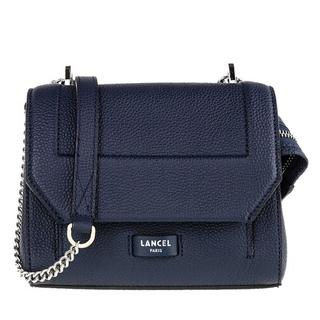 Crossbody bags - Ninon Grained Leather Flap Bag Small in blauw voor dames