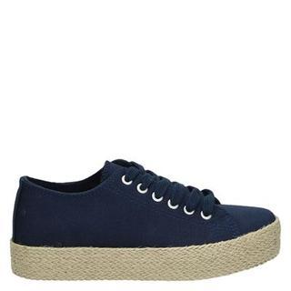platform sneakers blauw