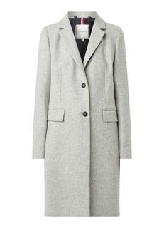 Mantel in wolblend met steekzakken