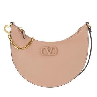 Hobo bags - Mini V-Logo Signature Hobo Bag Leather in roze voor dames
