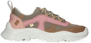 Taupe Lage Sneakers Emilee