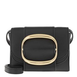 Cross Body Bags - Hopper Shoulder Bag Leather Black in zwart voor dames