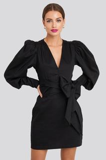Bow Detail Long Sleeve Mini Dress