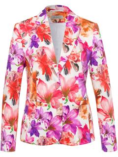 Blazer met bloemenprint multicolour