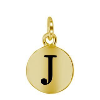 Zilveren hanger alfabet goldplated