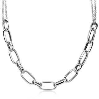 zilveren ketting ovaal 45cm ZIC1804