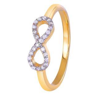 Eve goldplated ring infinity met zirkonia