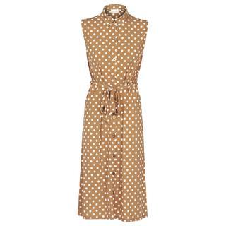 Mouwloze jurk met polkadots