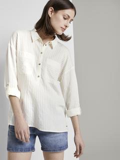 klassieke blouse Oversized tuniek met zakken