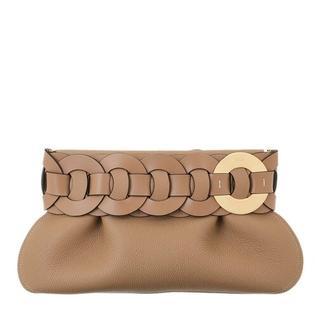 Clutches - Darryl Clutch Leather in grijs voor dames