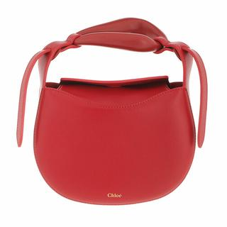 Satchels - Small Kiss Handle Bag in red voor dames