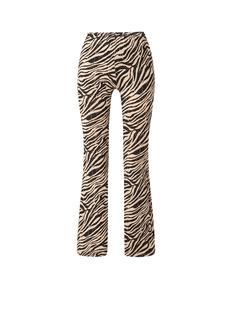 High waist flared fit legging met zebradessin