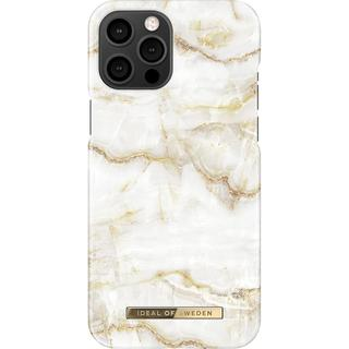 Fashion Backcover voor iPhone 12 Pro Max - Golden Pearl Marble