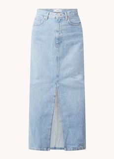 Sira maxi spijkerrok met steekzakken en split