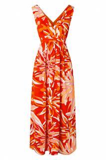 70s God's Smile Maxi Dress in Red