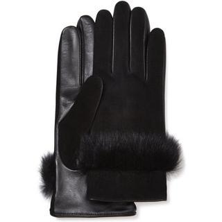 Handschoen van suède leer en sheepskin voor Dames in Black