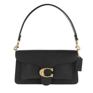 - Polished Pebble Leather Tabby Shoulder Bag 26 in zwart voor dames