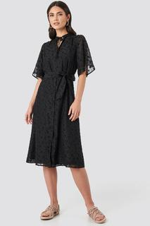 Open Back Structured Flowy Dress