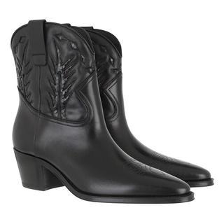Boots & laarzen - Western Ankle Boots Calfskin in zwart voor dames