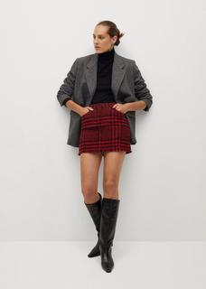 Geruite tweed minirok