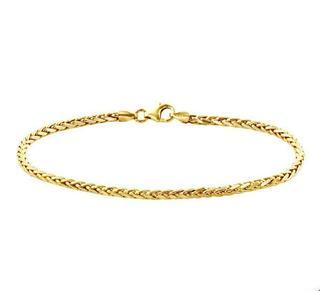 Geelgouden Armband vossestaart 2 4018095 18.5 cm