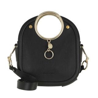 Crossbody bags - Embossed Logo Crossbody Bag Leather in zwart voor dames