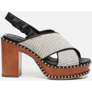 Sandalen met hak beige
