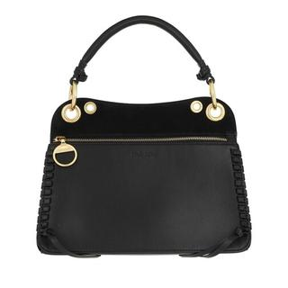 Satchels - Whipstitch Panelled Tote Bag Leather in zwart voor dames